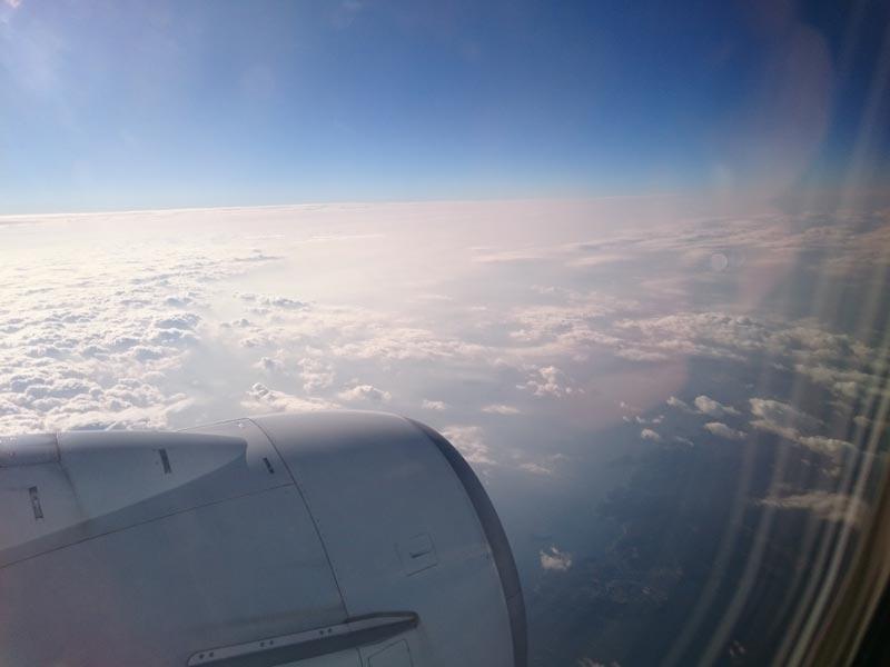 佐賀行きの飛行機の機内