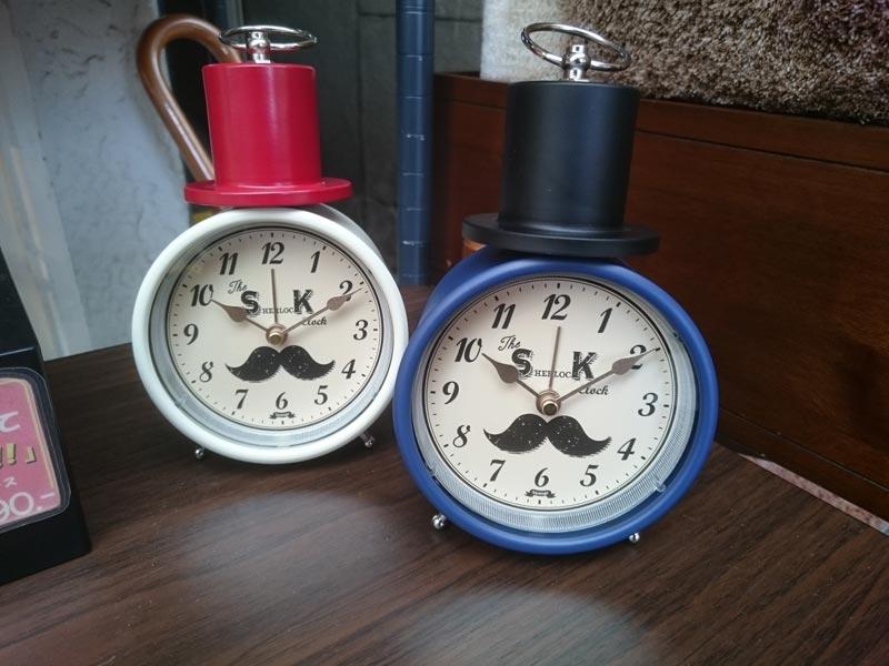 ひげの置き時計