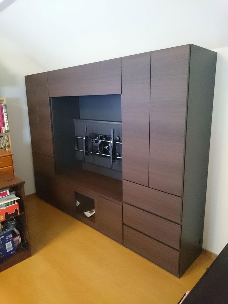 すえ木工MGシリーズ壁面収納納品例